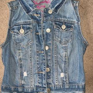 Jean cut-off jacket